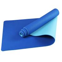 加厚tpe无味瑜伽垫 健身加长 双层面双色防滑初学仰卧起坐垫 6mm(初学者)