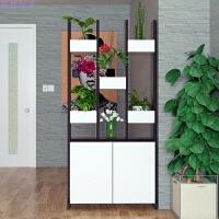 现代简约客厅玄关柜隔断柜 时尚创意装饰柜鞋柜储物柜 黑 白 组装