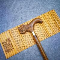 实木拐杖手杖老人防滑黄金檀龙头拐棍木质绅士助行器文明棍圣诞节SN8127