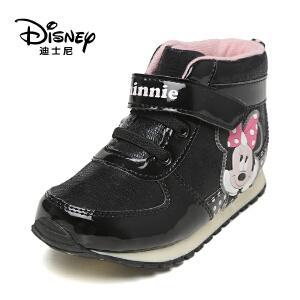 鞋柜/迪士尼冬甜美女童鞋低筒靴1