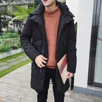 羽绒服男冬装韩版修身学生上衣青少年连帽加厚保暖休闲外套男