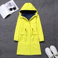 17新款秋冬户外保暖冲锋衣三合一糖果色外套防风防雨中长款女