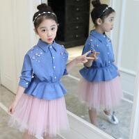 女童春秋装新款韩版童装连衣裙中大童儿童春季休闲两件套裙子