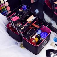时尚化妆包创意大容量手提多层化妆箱多功能美甲工具箱化妆品收纳包