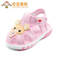 男女宝宝凉鞋夏0-2岁软底学步鞋婴儿布凉鞋叫叫鞋
