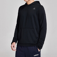 adidas阿迪达斯男服卫衣2019新款跑步连帽套头休闲运动服DQ2552