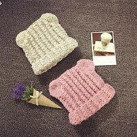 儿童针织毛线帽手工帽男女宝宝帽子秋冬护耳套头帽保暖摄影帽韩版
