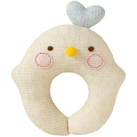 悠悠鸡针织棉摇铃 宝宝玩具 新生儿摇铃 玩具娃娃 材料包