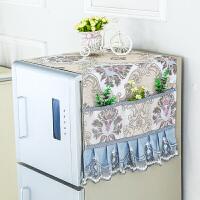 家用布艺洗衣机布盖巾厨房微波炉套罩子冰箱防尘罩单双开门