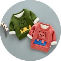 虫虫mini MMC 女童童卡通卫衣冬季童装宝宝韩版婴幼童长袖男女童上衣