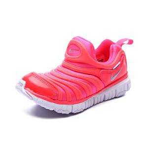 耐克 NIKE DYNAMO FREE (PS) 幼童运动童鞋 毛毛虫儿童鞋 343738 620 赛车粉