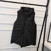 200斤韩版大码女装胖MM冬装新款2017加肥加大码女式棉马甲YK8102 黑色