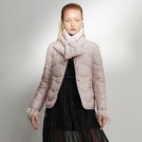 【2.5折价:425元】红袖冬装新款流行韩版粉色名媛风外套