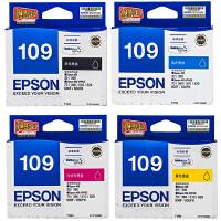 爱普生原装 EPSON 109墨盒 T1091黑色墨盒 T1092青色 T1093洋红色 T1094黄色 爱普生EPS