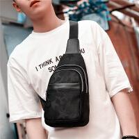 胸包男韩版潮帆布腰包休闲运动小背包时尚男士包包单肩包男斜挎包