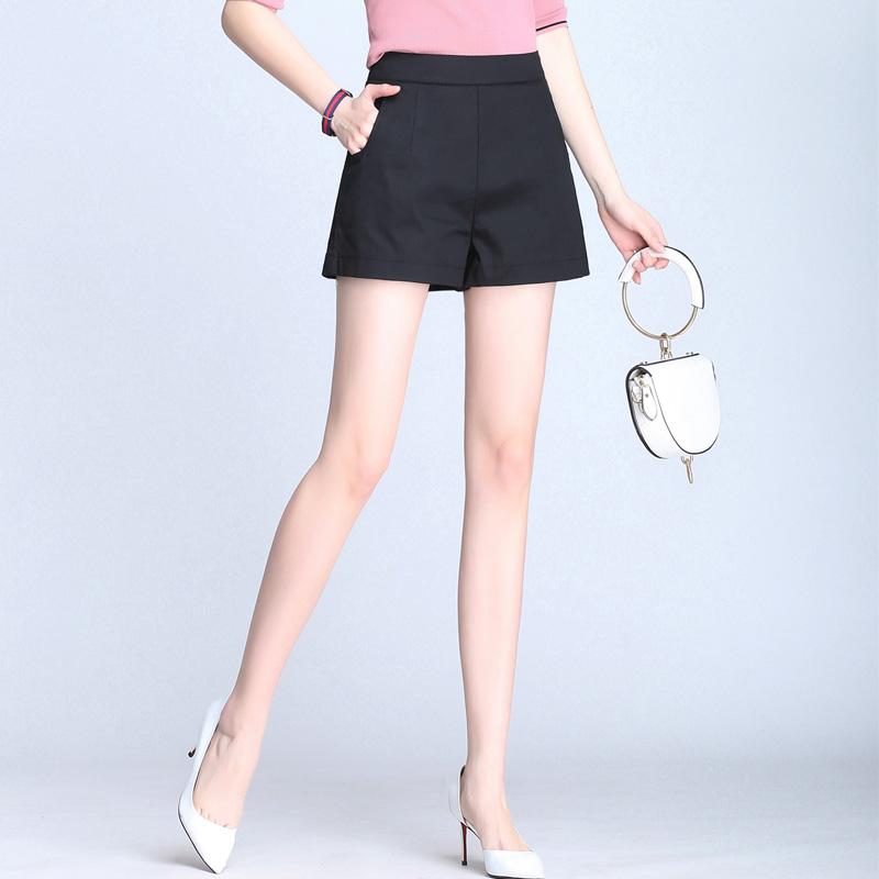 夏季新款休闲热裤高腰显瘦拉链短裤