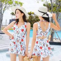 泳衣女保守学生韩国遮肚少女网红新款连体泡温泉度假游泳衣