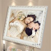 七夕礼物 欧式实木相框10寸16寸 20寸24寸A3 A4婚纱照片框摆台挂墙定制画框
