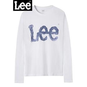 Lee男装 2018商场同款长袖LOGOT恤 L296232LQK14