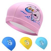 PU�和�泳帽男孩游泳帽子舒�m不勒�^�o味防水男童女童卡通泳帽