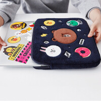 布朗熊macbook苹果手提笔记本电脑12小米air14女13.3寸15.6内胆包