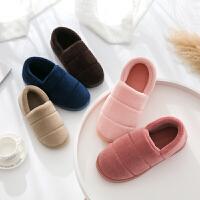 棉拖鞋冬季室内情侣棉拖鞋男女全包跟保暖居家居厚底月子棉鞋毛毛拖鞋冬