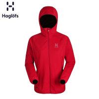 Haglofs火柴棍女款运动户外防风透气舒适连帽软壳夹克602835 欧版