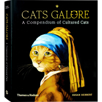 【英文版】Cats Galore 猫咪集锦:艺术作品里的猫 进口艺术 世界经典名画猫咪版书籍
