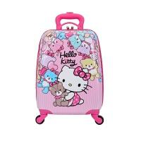 儿童拉杆箱18寸万向轮行箱16寸男女学生小孩宝宝公主卡通拖拉箱 紫色 KT猫 1 8寸