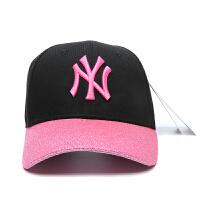 棒球帽 NY字母洋基队男女鸭舌帽子情侣遮阳嘻哈帽 可调节