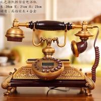 恺撒仿古电话机 古典实木金属复古电话 欧式家居装饰摆设品工艺礼品