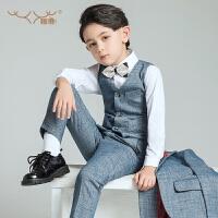 中大童马甲套装儿童西装男童钢琴演出服童装