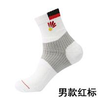 羽毛球袜子男女中筒白色纯棉运动袜加厚防臭毛巾袜户外跑步袜 均码