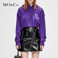 MOCO冬季新品个性摇滚图案连帽卫衣MA184SWS207 摩安珂