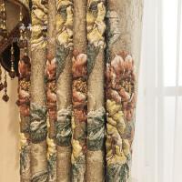 欧式窗帘 豪华加厚浮雕3D立体布料客厅餐厅卧室成品窗帘定制 要几米拍几件