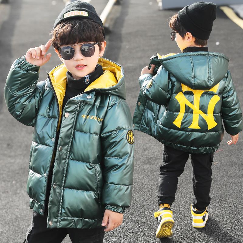 男童棉衣儿童中大童装冬装羽绒袄外套