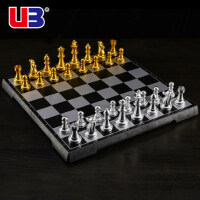 UB友邦国际象棋中大号磁性黑白金银棋子圆角折叠棋盘学校教学用棋