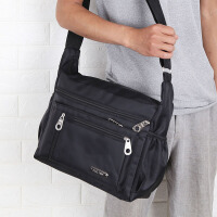 大容量单肩包男士背包牛津布斜挎包多隔层男包公文包旅行包电脑包
