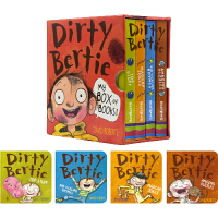 Dirty Bertie My Box of Books 脏小弟波迪 益智活动书 纸板书口袋书4册盒装 笑话 谜题 有