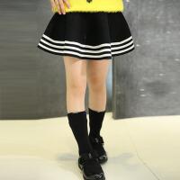 春秋短裙女童时尚半身裙伞裙 新款儿童简约女孩童装裙子女大童可爱