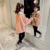 女童秋冬外套儿童中大童夹棉上衣