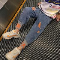 男童牛仔裤春装男孩长裤子休闲中大儿童