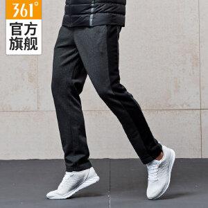 【每满100减50】361°男装春季针织裤跑步卫裤361度小脚裤男修身运动裤