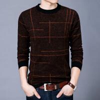 秋冬新款羊毛衫纯羊毛男士圆领套头线衫针织衫商务长袖打底毛衣男