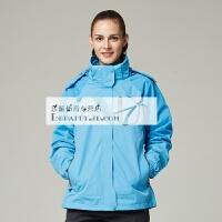 冲锋衣男三合一秋冬季防水透气两件套男女士西藏旅游登山服外套