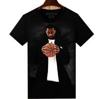 科比哈登詹姆斯库里T恤男篮球衣队服衣服男女t恤短袖男t-shirt X