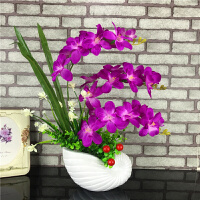仿真蝴蝶兰花套装假花绢花装饰花卧室客厅餐桌摆放花插花花艺