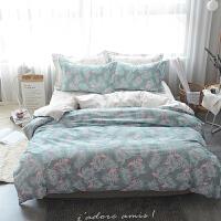 家纺龙瑞诗纯棉四件套全棉床品套件1.8m床上用品被套床单三件套1.5米