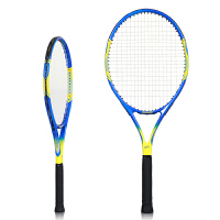 网球拍套装722超轻初学者训练碳素专业比赛男女 蓝黄色