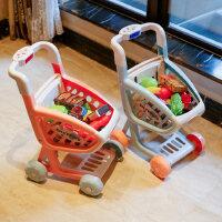 新年礼物儿童购物车男女孩玩具厨房套装手小推车水果切切乐超市